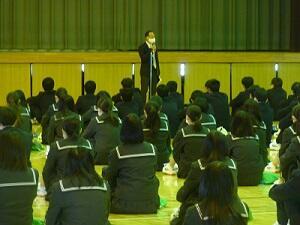 持田学年主任の話
